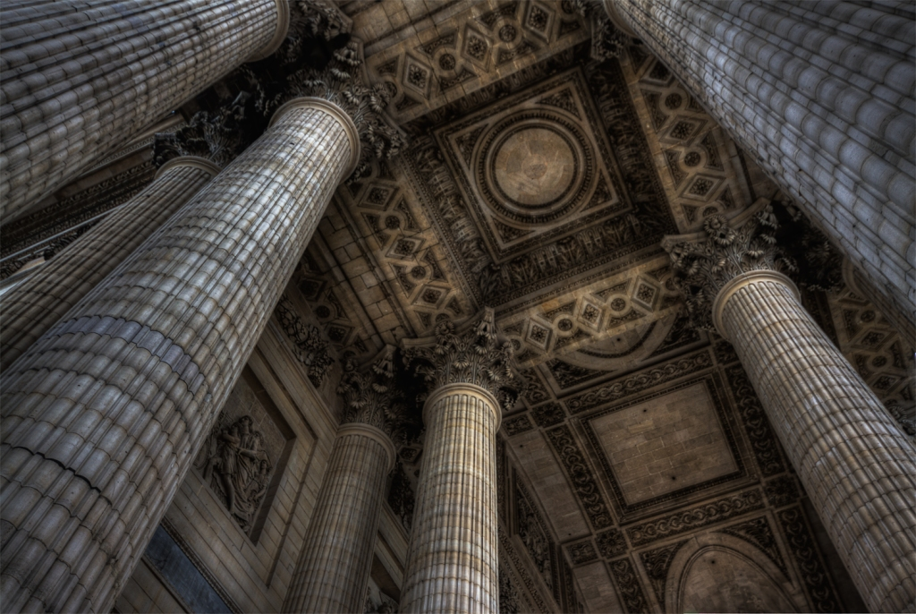 Columns and roof